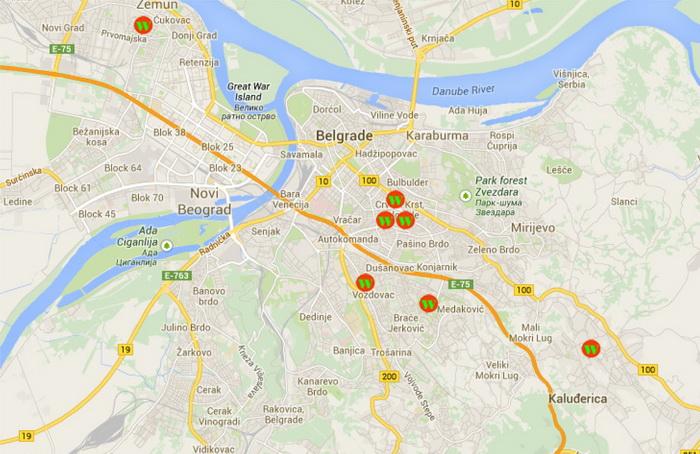 Beograd Cerak Mapa Superjoden